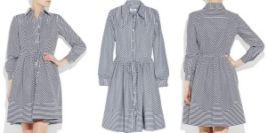 MOSCHINO - striped cotton-poplin shirt dress